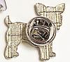 Брошь брошка металлическая собака щенок пес чихуа хуа рыжая, фото 3