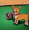 Брошь брошка металлическая собака щенок пес чихуа хуа рыжая, фото 2
