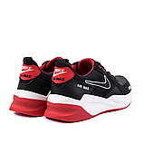 Чоловічі чорні шкіряні кросівки nike, фото 4
