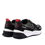 Чоловічі шкіряні кросівки nike чорно-оливкові з білою підошвою, фото 6