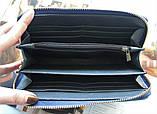 """Жіночий гаманець """"Eccellente"""" з натуральної шкіри блакитний, фото 4"""