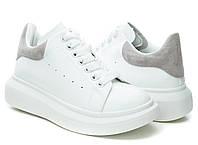 Кроссовки женские Fashion велюр, искусственная кожа, белые, размер 38