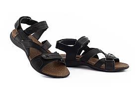 Подростковые босоножки кожаные летние черные-коричневые StepWey Gamer 7561