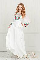 Сукня з вишивкою трояндами