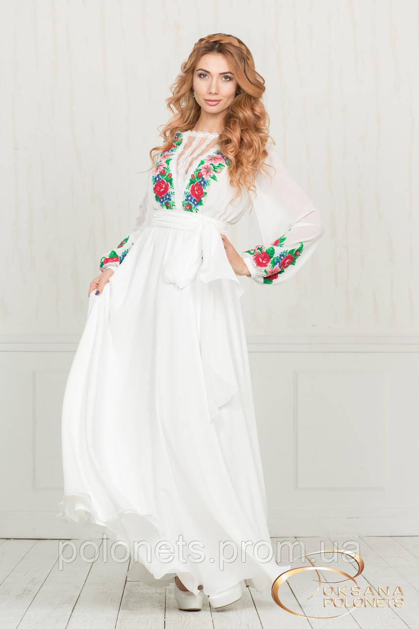 Сукня з вишивкою трояндами  продажа 3c15809445224