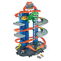 Игровой набор Легендарный гараж с Робо-Ти-рексом Хот Вилс на 100 мест с 2 машинками - Hot Wheels Ultimate