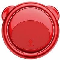 Кольцо-держатель Baseus для смартфона Bear Finger Metal Ring, Red (SUBR-09)