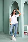 Женская футболка, турецкая вискоза, р-р универсальный 44-48 (белый), фото 2