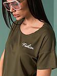 Жіноча футболка, турецька віскоза, р-р універсальний 44-48 (хакі), фото 2