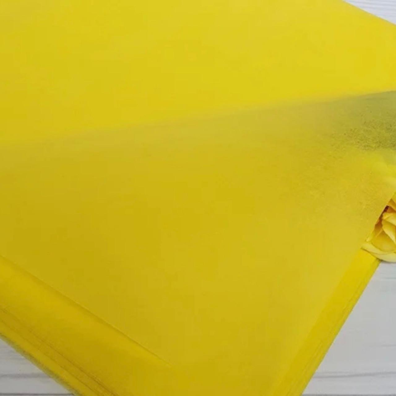 Папір тішью 50х75 см (50 листів) жовтий
