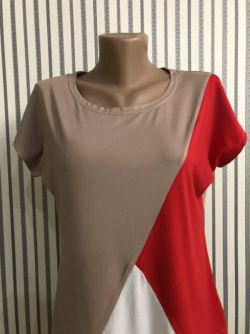 Женская футболка, турецкая вискоза, р-р универсальный 44-48 (мокко)