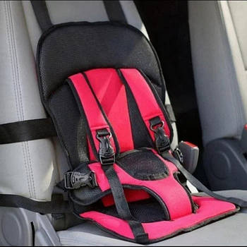 Дитяче автокрісло червоне Multi Function Car Cushion № K12-106 від року
