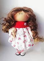Текстильна лялька іграшка ручної роботи Емілі з ведмедиком Hand Made