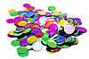 Хлопушка пружинная, 21 см, разноцветные кружочки из фольги (400393), фото 3