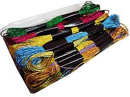 Мулине для вышивания Люрекс (24шт/набор) ассорти