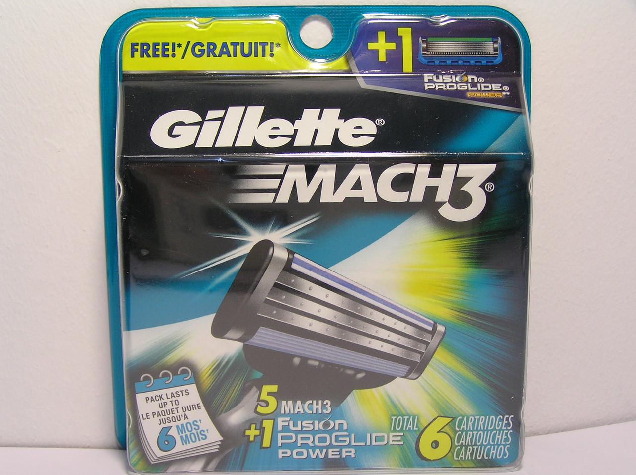 Кассеты Gillette Mach 3 5 шт+ Fusion Proglide Power кассета 1 шт ( Жиллет Мак 3 оригинал производство США)
