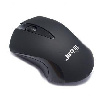 Беспроводная оптическая мышка для компьютера черного цвета Jedel W120
