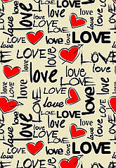 "Вафельна картинка  ""LOVE """