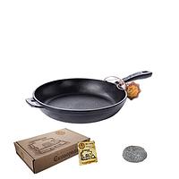 Сковорода чугунная литая 20*4 см круглая без крышки