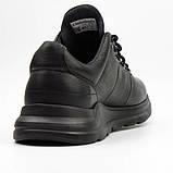 Мужские кроссовки Clubshoes черные кожа, фото 4