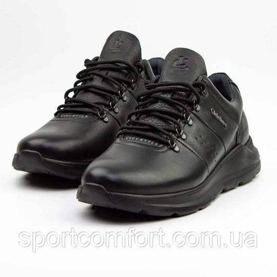 Мужские кроссовки Clubshoes черные кожа