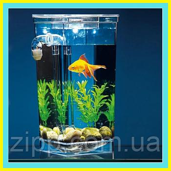 Акваріум з LED підсвічуванням Самоочисний акваріум My Fun Fish акваріум Маленький акваріум