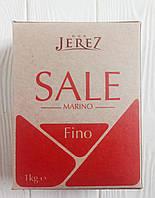 Мелкая морская соль Don Jerez Sale Marino Fino 1кг (Италия), фото 1