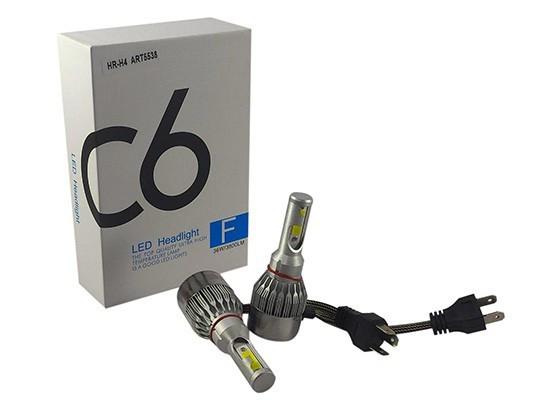Лампы светодиодные С6 LED H4 (3800Лм, 36Вт, 8-48В)