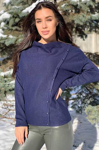 Свитер женский темно-синий 126019M