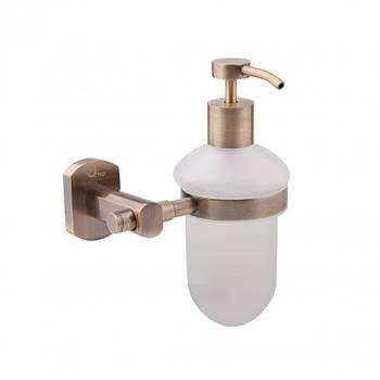 Настенный дозатор жидкого мыла цвет бронза Q-tap Liberty ANT 1152