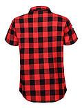 Мужская рубашка в клетку с коротким рукавом средней плотности, фото 2