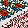 Вафельний рушник український з маками та васильками 45х70 см