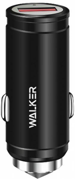 Автомобільний зарядний пристрій з підтримкою Quick Charge 3.0 Walker WCR-23 2.4 A Black
