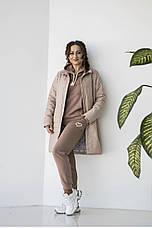 """Куртка женская удлиненная  """"Кира"""" сезон весна в размере 48-54, фото 2"""