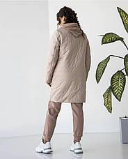 """Куртка женская удлиненная  """"Кира"""" сезон весна в размере 48-54, фото 3"""