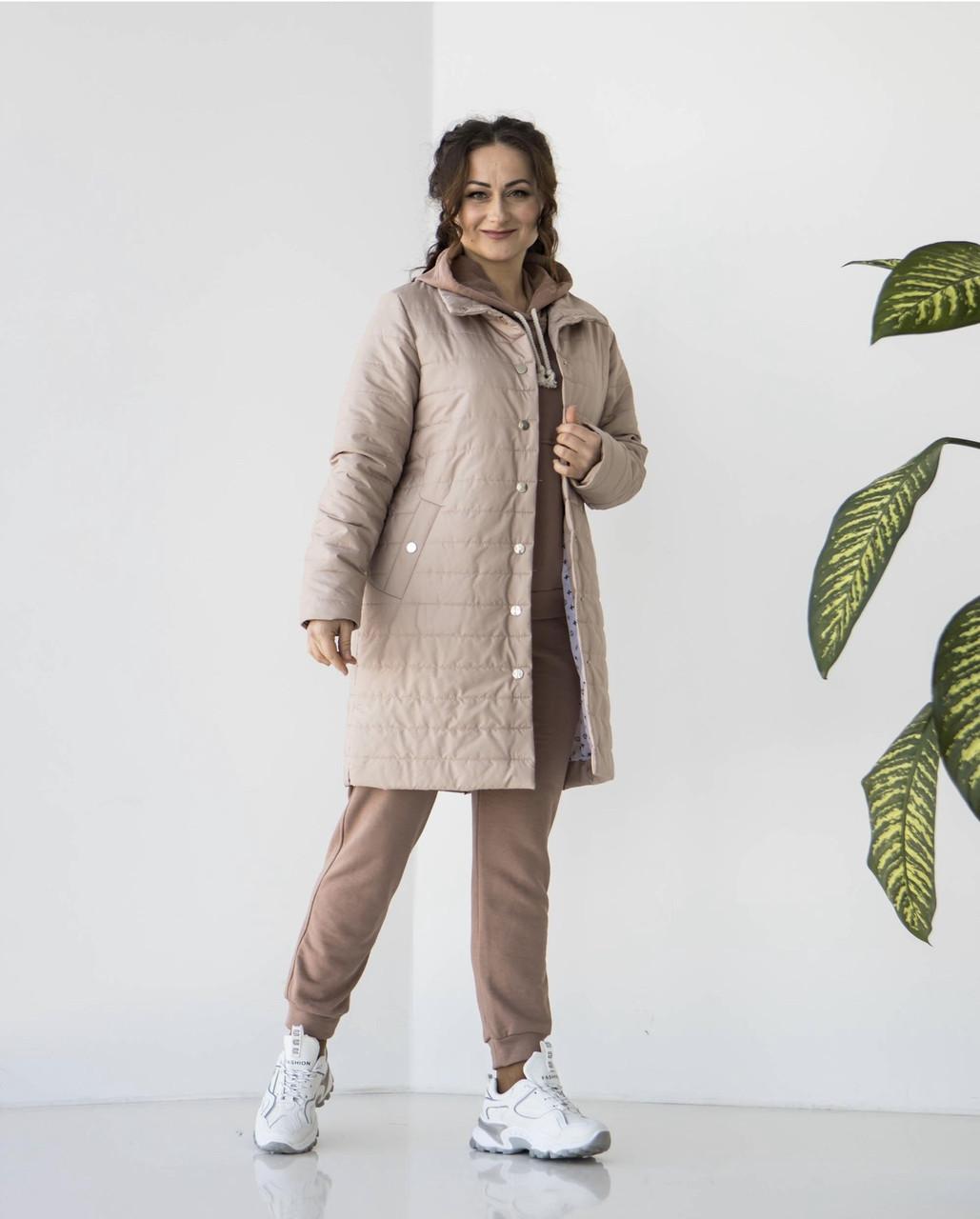 """Куртка женская удлиненная  """"Кира"""" сезон весна в размере 48-54"""