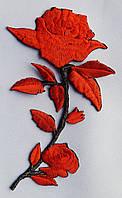 Аппликация  (термо)  роза  оранж.  17см