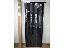 Міжкімнатні Гармошка пластикова глуха чорне дерево 810х2030х6 мм
