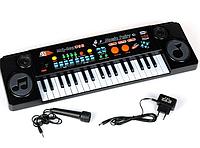 Детский синтезатор 37 клавиш MQ-803 с микрофоном, MP3 ,USB, демо, Работает от сети и батар.Т