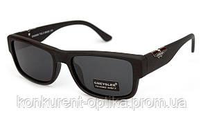 Мужские солнцезащитные очки полароид Cheysler Черный матовый