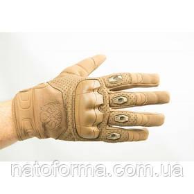 "Перчатки стрелковые P1G-Tac® ""FKG"" (Fast knuckles gloves), Coyote Brown"