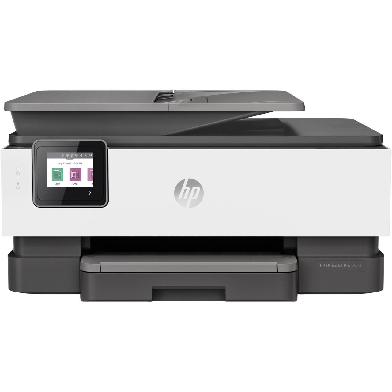 БФП струменевий кольоровий з автоподачею оригиналів HP OfficeJet Pro 8023 + Wi-Fi (1KR64B)
