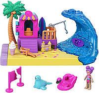 Игровой набор Полли Покет Polly Pocket солнечный пляж Mattel GTM67