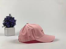 Кепка Бейсболка Мужская Женская City-A с надписью Youth с металлической застежкой Розовая, фото 3