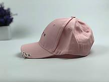 Кепка Бейсболка Чоловіча Жіноча City-A з написом Youth з кільцями Рожева, фото 3
