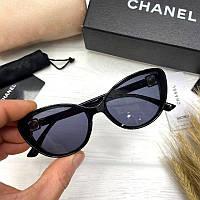 Женские солнцезащитные очки бабочки Шанель реплика, фото 1