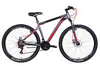 """Велосипед горный мужской 29"""" Discovery Trek AM DD 2021 рама 19"""" графитово-черный с красным"""