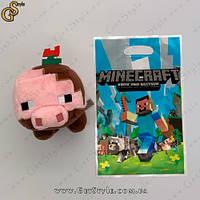 """Іграшка Брудна свиня Minecraft - """"Muddy Pig"""" - 17 см"""