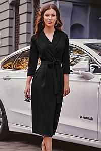 Універсальне плаття на запах Kristina, чорний