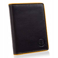 Мужской кошелек из натуральной кожи. Мужской клатч. Кожаный кошелек Betlewski с защитой RFID BPM-DP-62 черный